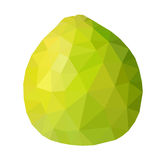 Vector low poly green pomelo Stock Photo