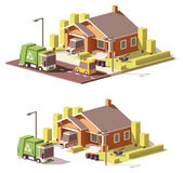 Vector low poly house icon Stock Images