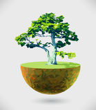 Vector Low Poly Island stock illustration