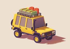 Vector low poly off-road 4x4 SUV car Royalty Free Stock Images