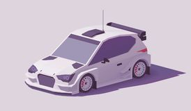 Vector low poly rally racing car Royalty Free Stock Photography