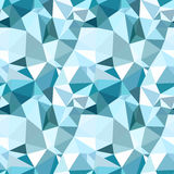 Vector low poly seamless pattern. Blue winter Royalty Free Stock Photography