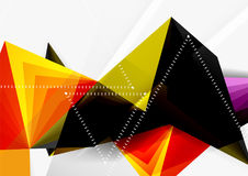 Vector low poly style 3d triangle line Royalty Free Stock Image