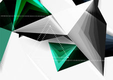 Vector low poly style 3d triangle line. A4 business or technology abstract template Royalty Free Stock Image