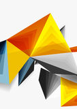 Vector low poly style 3d triangle line. A4 business or technology abstract template Royalty Free Stock Photos