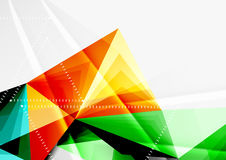 Vector low poly style 3d triangle line. A4 business or technology abstract template Stock Photography
