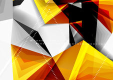 Vector low poly style 3d triangle line Royalty Free Stock Photos