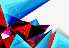 Vector low poly style 3d triangle line. A4 business or technology abstract template Stock Image