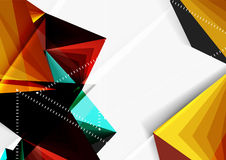 Vector low poly style 3d triangle line Stock Image
