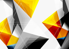 Vector low poly style 3d triangle line Royalty Free Stock Images