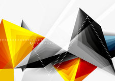 Vector low poly style 3d triangle line Stock Photo