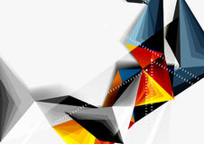 Vector low poly style 3d triangle line. A4 business or technology abstract template Royalty Free Stock Photography