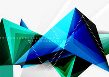 Vector low poly style 3d triangle line. A4 business or technology abstract template Stock Photos