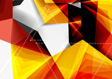 Vector low poly style 3d triangle line. A4 business or technology abstract template Stock Photo