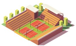 Vector low poly tennis stadium Stock Photography