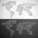 Vector Low Poly World Map Stock Images