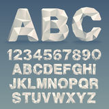 Vector Lowpoly Font Stock Photo