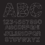 Vector Lowpoly Outline Font Royalty Free Stock Photos