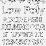 Vector Lowpoly Outline Font Royalty Free Stock Image