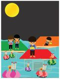 Vector of Loy Krathong Festival in Thailand. This festival will held every year in November Royalty Free Stock Images