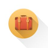 Vector luggage icon. Stock Photography