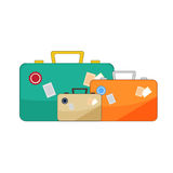 Vector luggage illustration Royalty Free Stock Photography