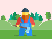 Vector lumberjack with axe Royalty Free Stock Images
