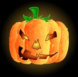 Vector Lumpy Halloween Pumpkin Royalty Free Stock Image