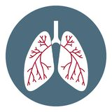 Vector Lungs Icon. Health Care Symbol isolated on white background. Flat Style. Vector illustration for Apps, Websites. vector illustration