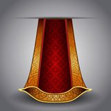 Vector luxurious royal gold-red fabric Stock Photos