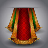 Vector luxurious royal red-green fabric Royalty Free Stock Photo