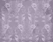 Vector Luxury Baroque pattern in violet color. Intricate design ornaments. Vector Luxury Baroque pattern in violet color. Intricate design ornament Stock Photography