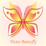 Vector luxury butterfly background design. Colorfull concept. Royalty Free Stock Images