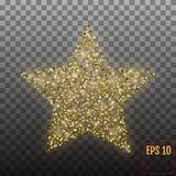 Vector luxury gold star. Element for advertising poster for rest Stock Photos