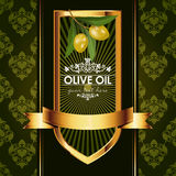 Vector luxury golden decorative design with olive Royalty Free Stock Photos