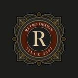 Vector luxury monogram design template Royalty Free Stock Image