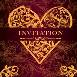 Vector luxury royal invitation card for design Royalty Free Stock Image