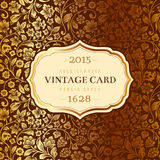 Vector luxury vintage card. Royalty Free Stock Photos