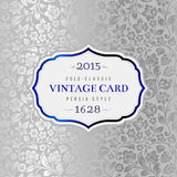 Vector luxury vintage card. Royalty Free Stock Photography