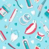 Vector médico del modelo de la higiene de los dientes ilustración del vector