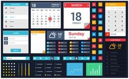 Vector móvil del diseño de interfaz de usuario del app libre illustration