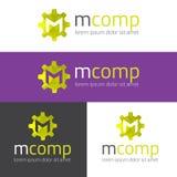 Vector m letter modern polygonal logo Stock Images