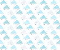 Vector a m?o tirada, teste padr?o sem emenda do fundo da chuva ilustração stock