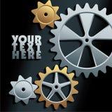 Vector machine gears background Stock Photos