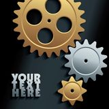 Vector machine gears background Royalty Free Stock Images
