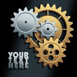 Vector machine gears background Royalty Free Stock Photo