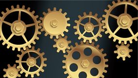 Vector machine gears Stock Image