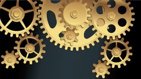 Vector machine gears Royalty Free Stock Photo