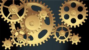 Vector machine gears Royalty Free Stock Photography