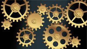 Vector machine gears Royalty Free Stock Images